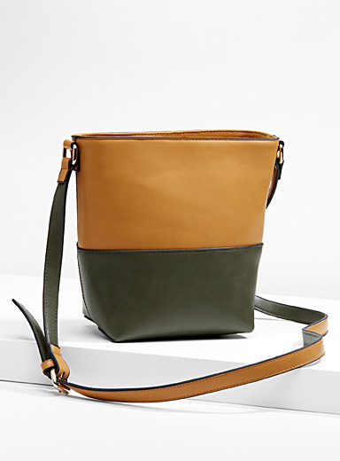 Two-tone shoulder bag