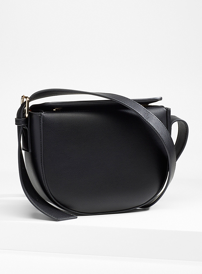 Half-moon boxy shoulder bag