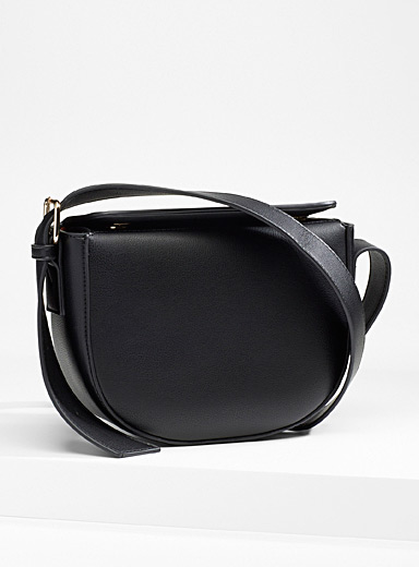 Simons Black Half-moon shoulder bag for women