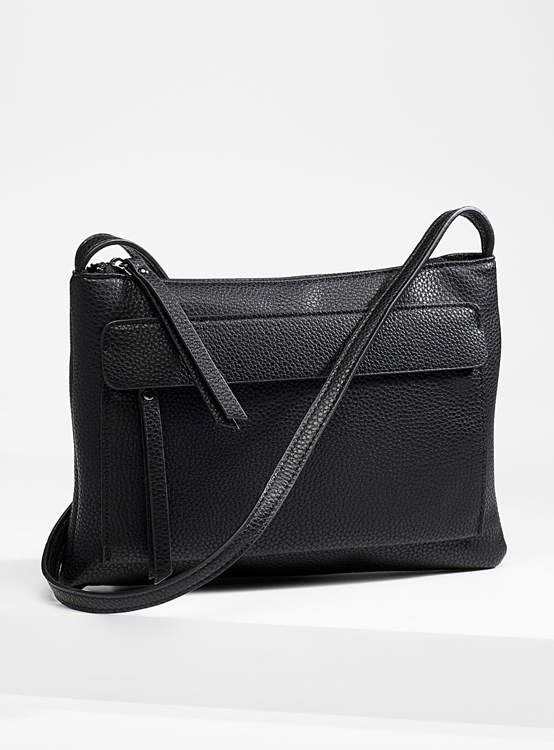 Simons Black Long shoulder strap clutch for women