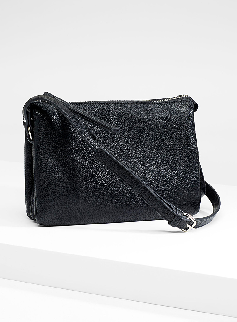 Triple shoulder bag - Crossbody Bags - Black