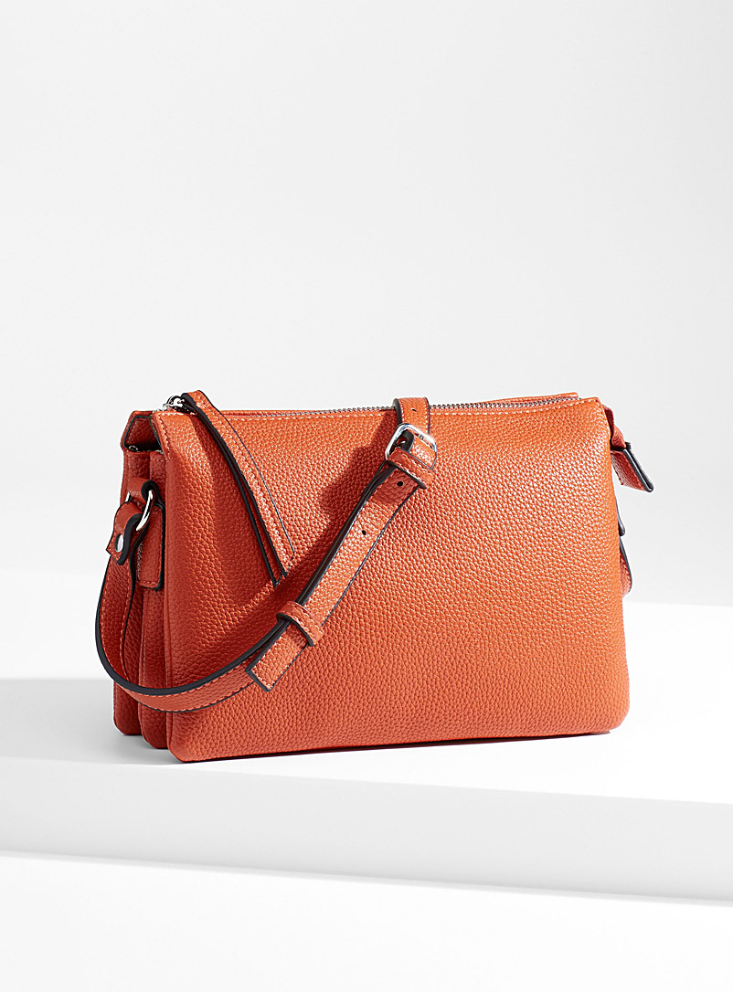 Simons Orange Triple shoulder bag for women