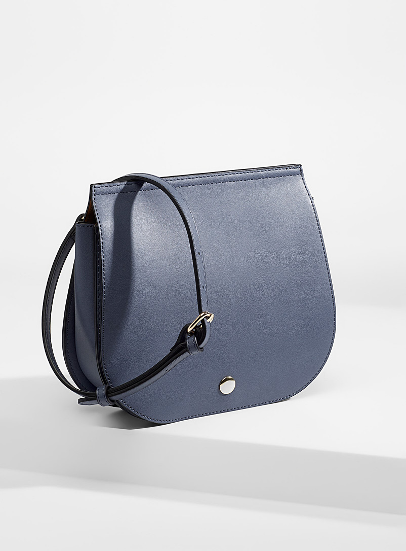 Simons Slate Blue Minimalist messenger bag for women