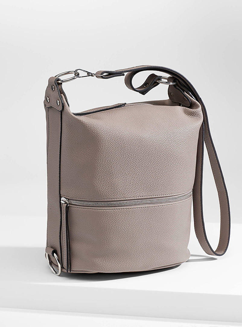 Multi-position bucket bag