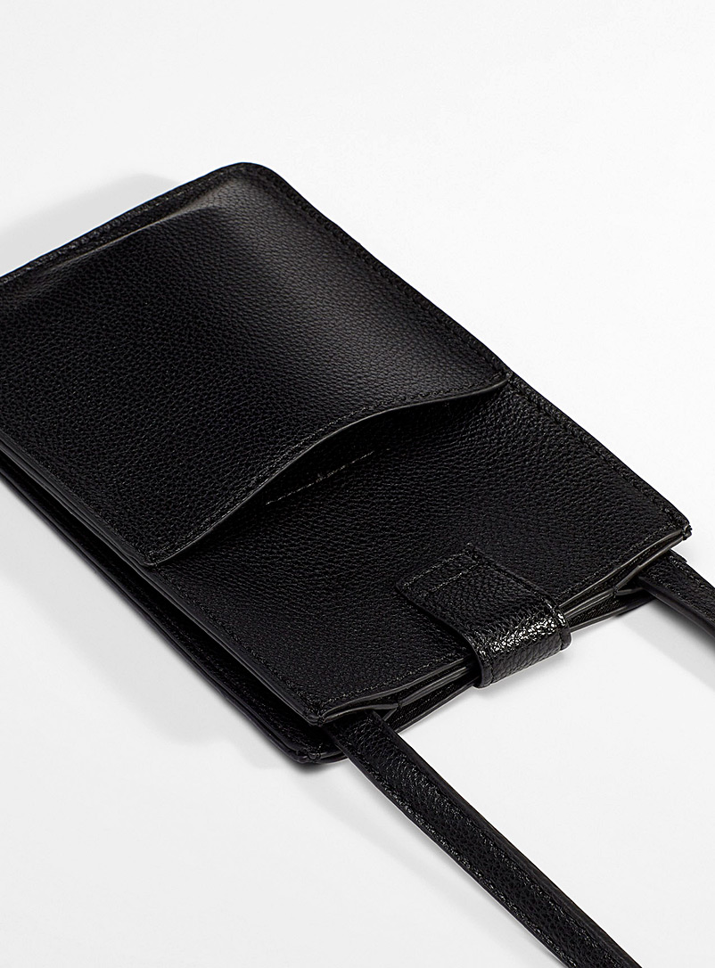 Simons Black Ultra-thin phone pouch for women