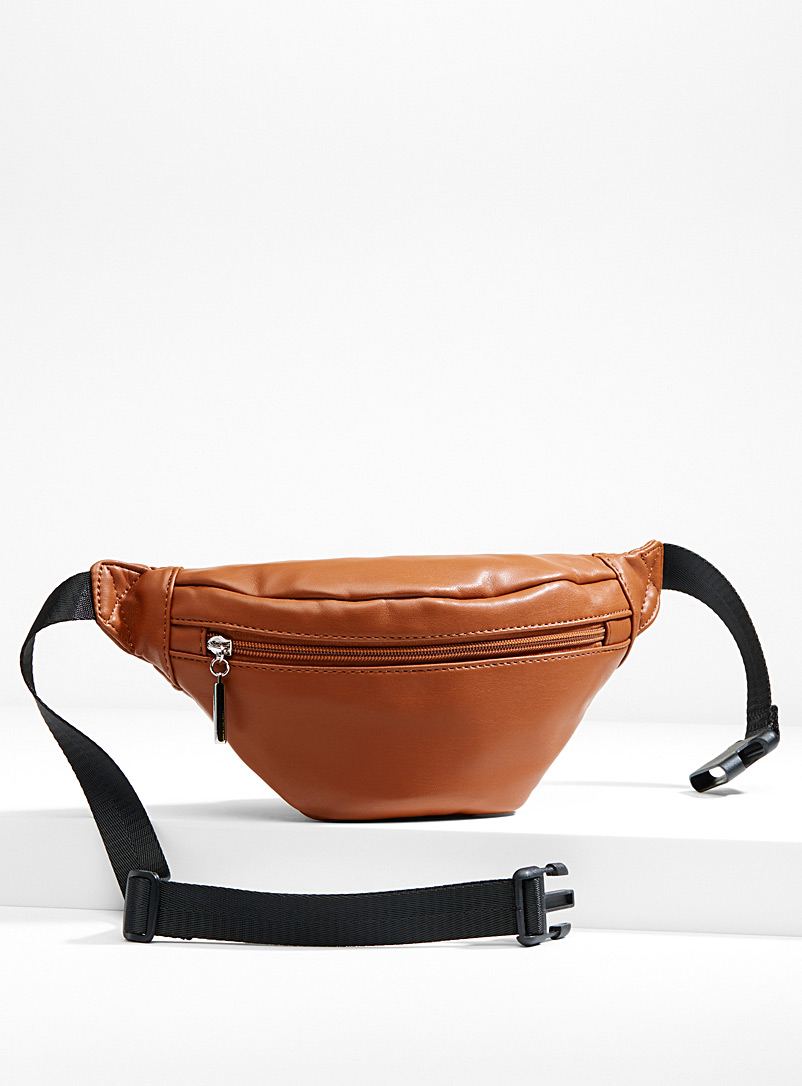 Supple faux-leather belt bag - Belt Bags - Brown