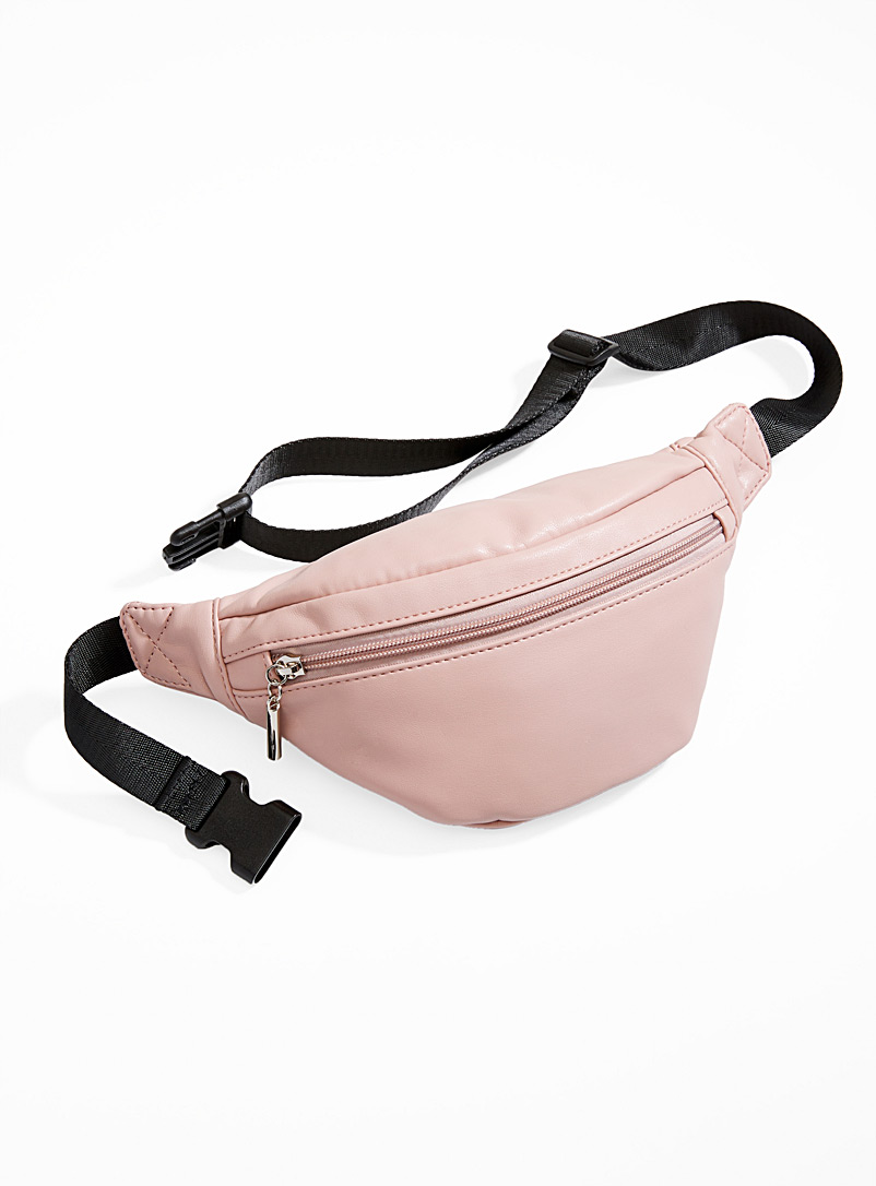 Supple faux-leather belt bag - Belt Bags - Dusky Pink