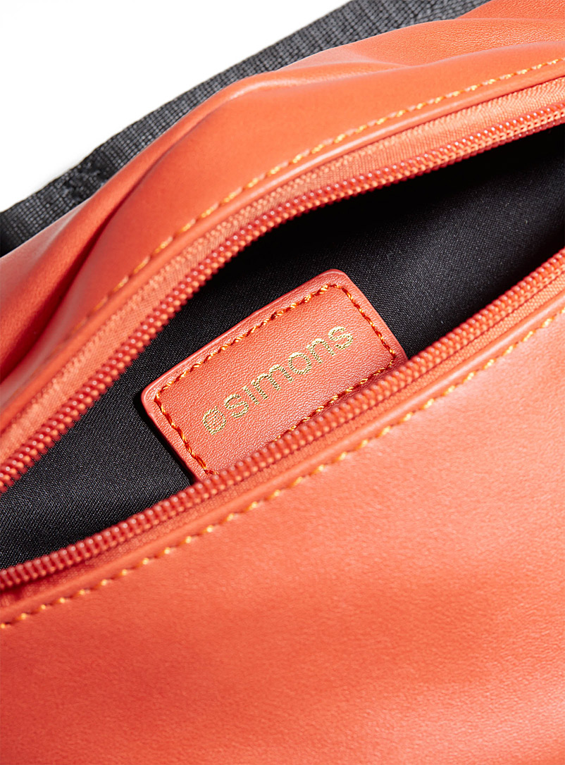 Supple faux-leather belt bag - Belt Bags - Orange