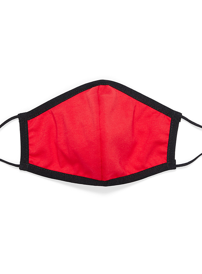 Simons Red Solid antibacterial fabric mask for women