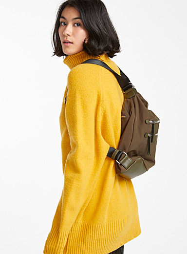 Simons Khaki 2-in-1 utility bag for women