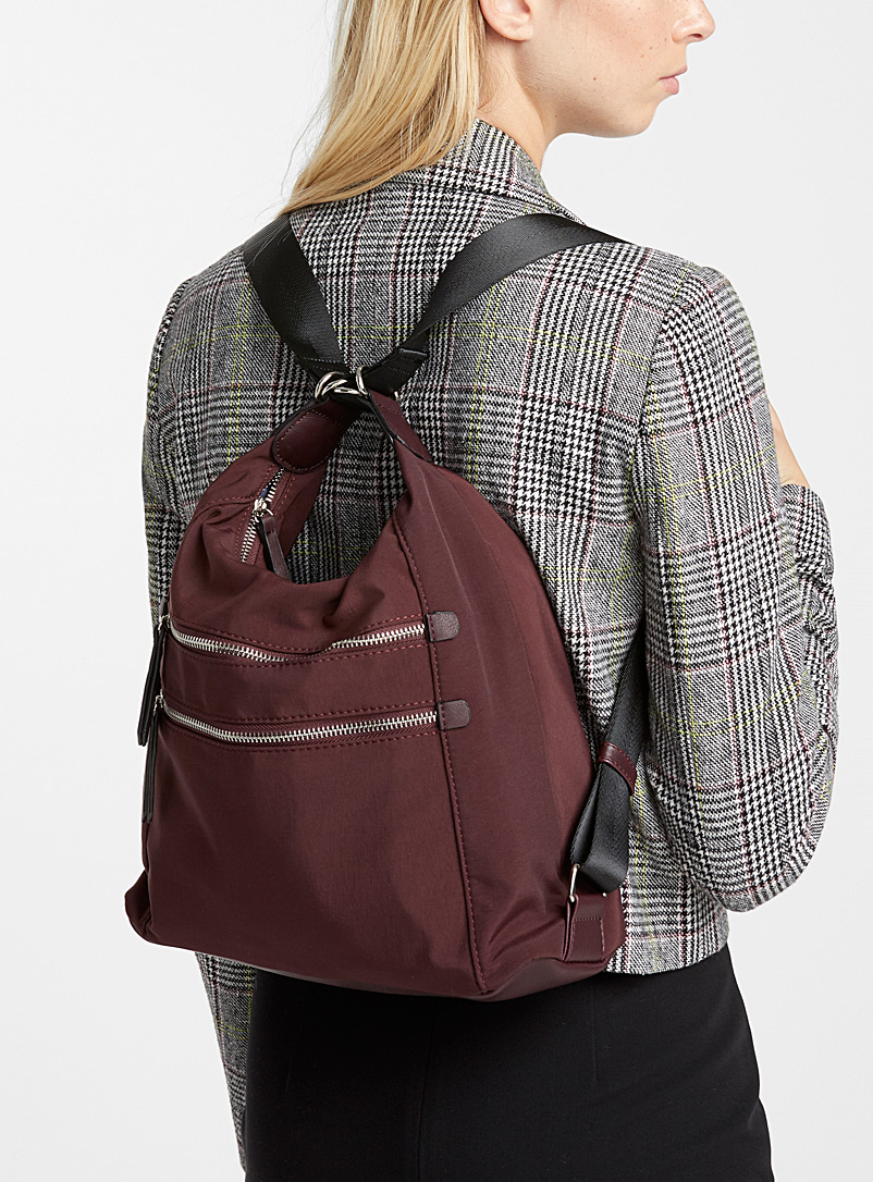 2-in-1 utilitarian bag - Backpacks - Ruby Red