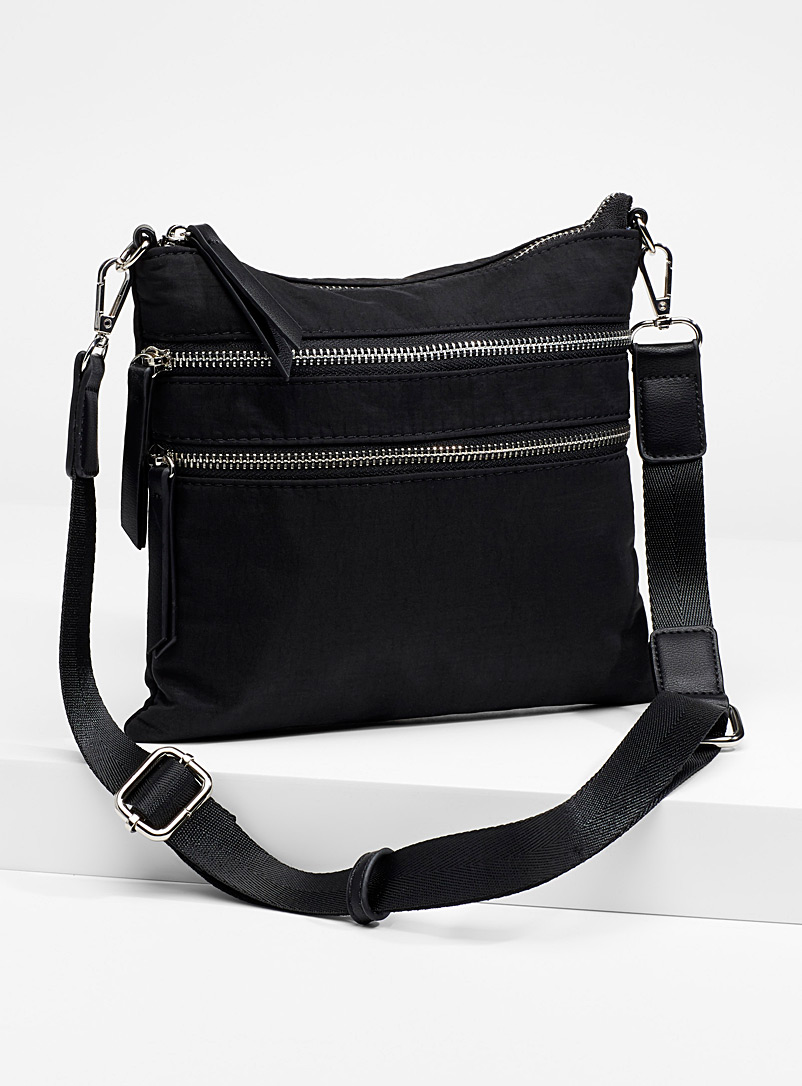 Solid nylon shoulder bag - Crossbody Bags