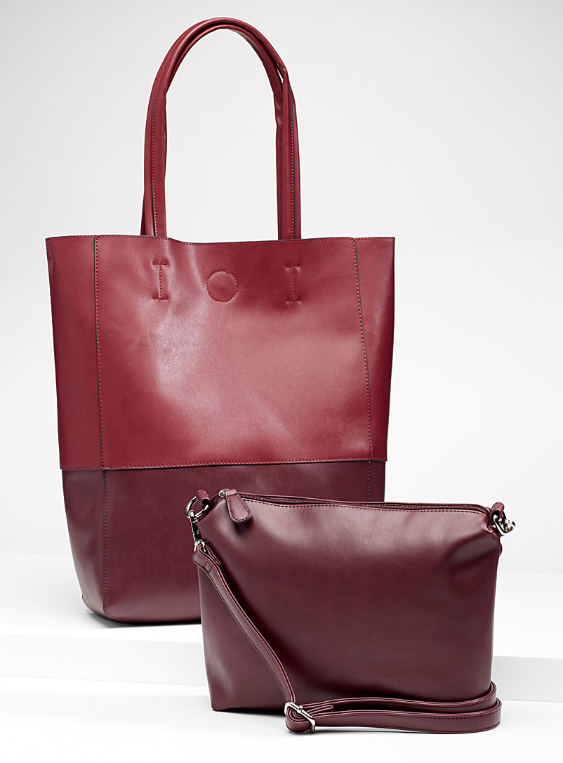 Two-tone tote and clutch - Tote Bags - Toast