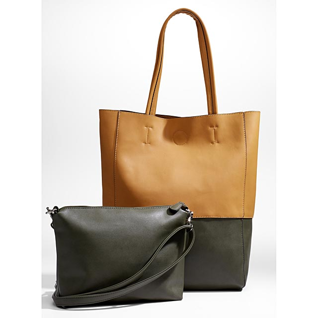 two-tone-tote-and-clutch