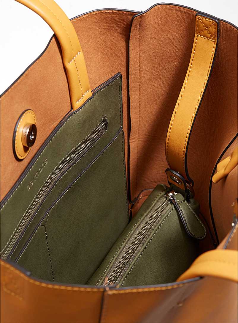 Two-tone tote and clutch - Tote Bags - Kelly Green