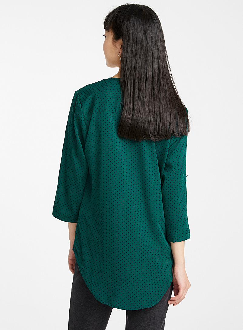 Utility collarless blouse - Blouses - Green