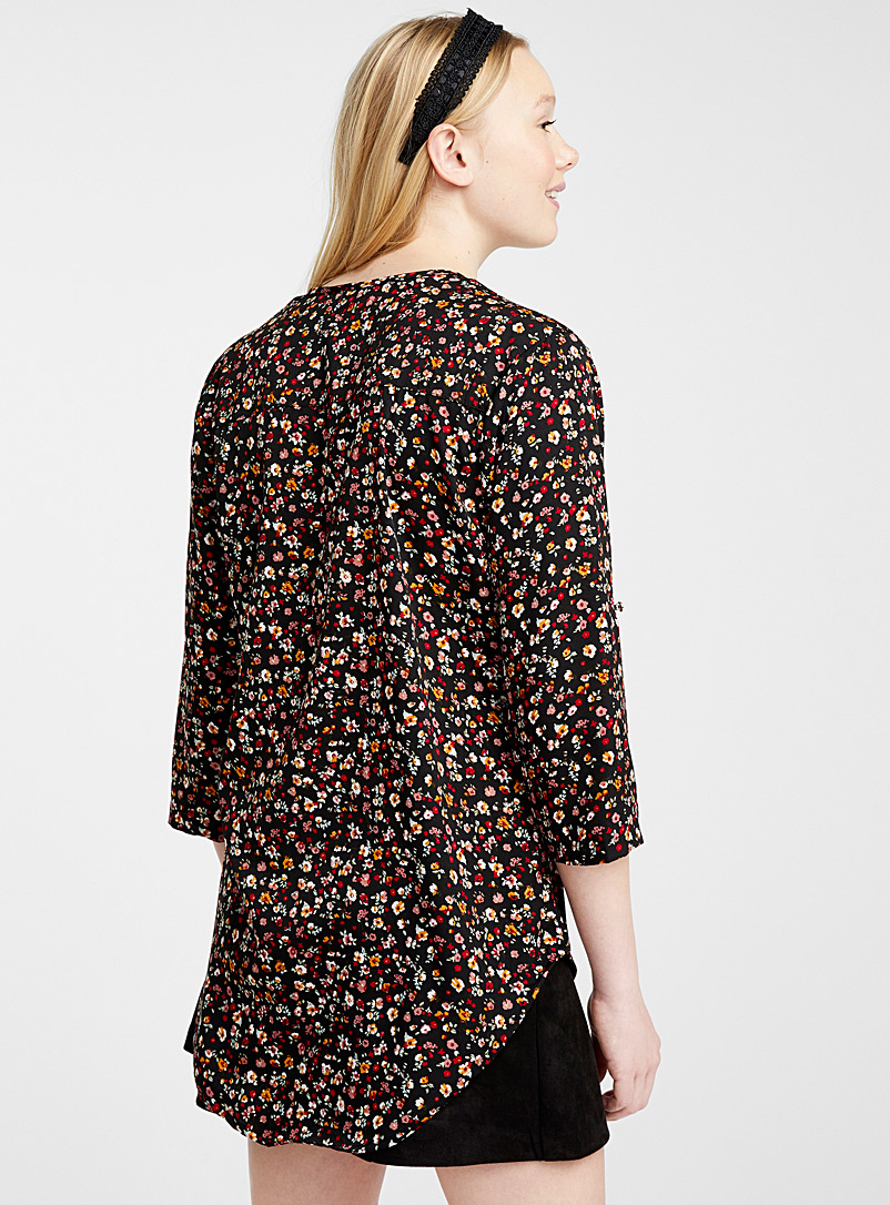 Twik Assorted Printed collarless blouse for women
