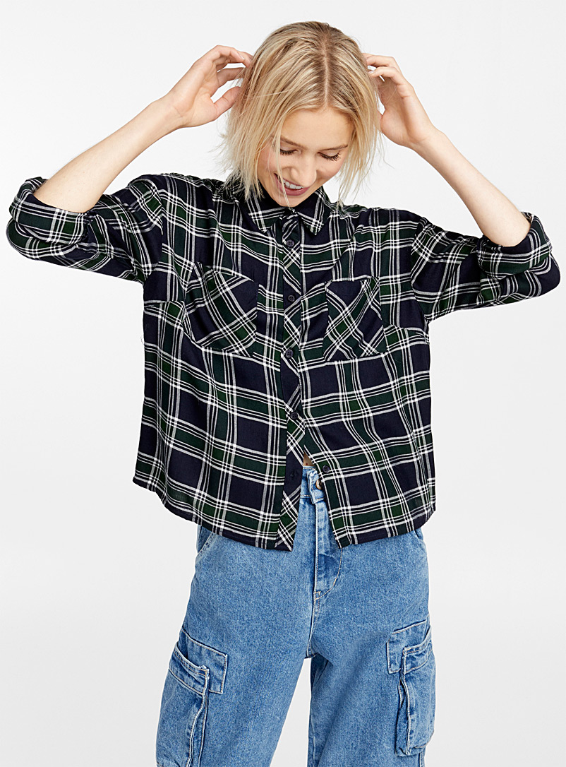 Loose check shirt - Shirts - Patterned Green