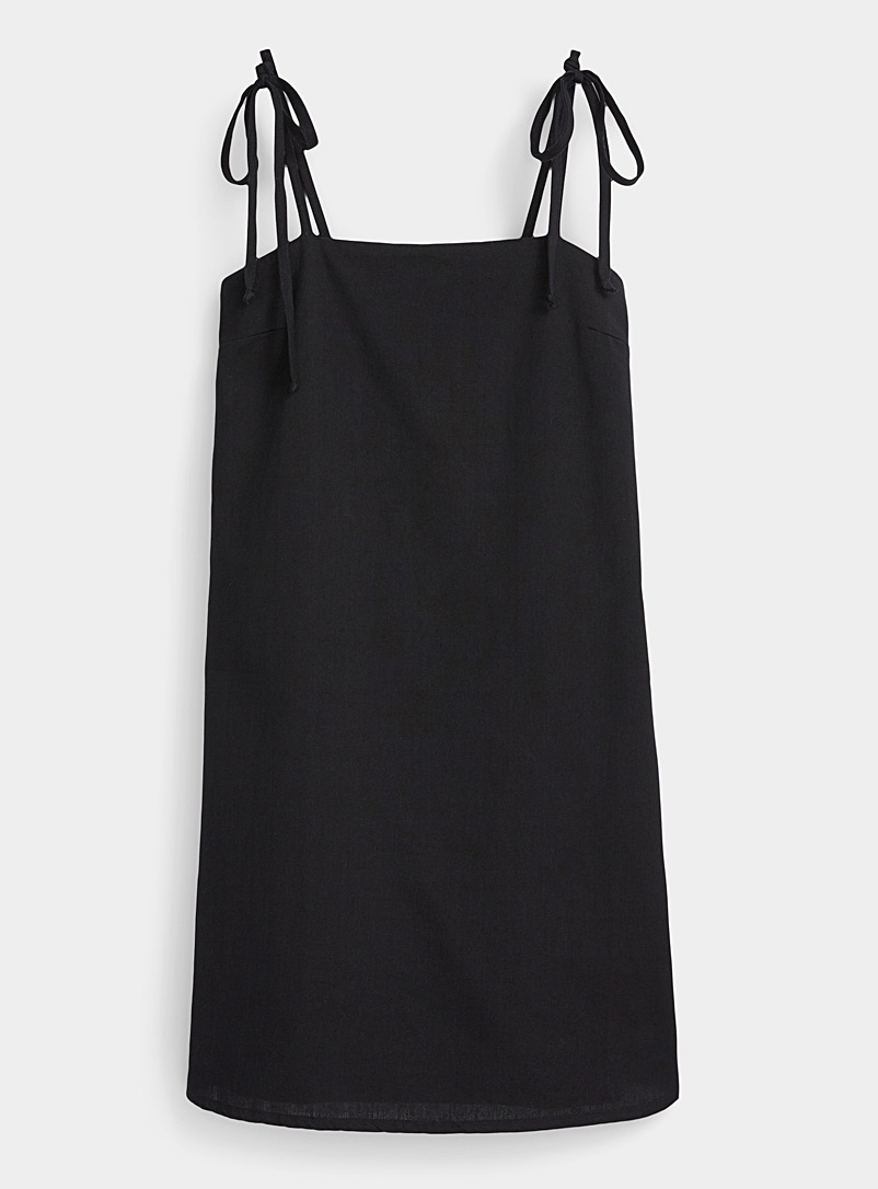 Twik Black Bow strap dress for women