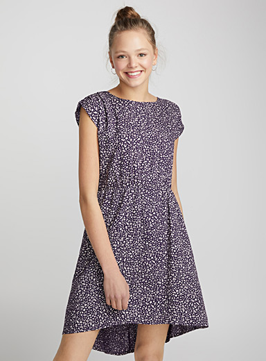 Assorted-print dress