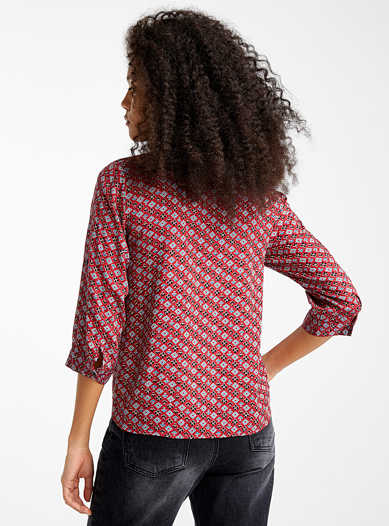 Rayon tie shirt - Shirts - Patterned Red