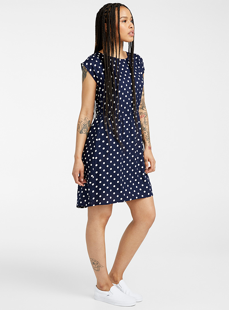 Twik Patterned Blue Fitted print dress for women
