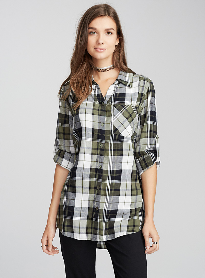 plaid-tunic