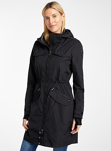 Pajar Canada Black Byrony rain parka for women