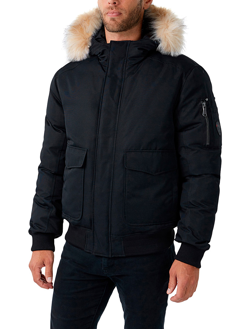Pajar Canada Black Lucas down bomber jacket for men
