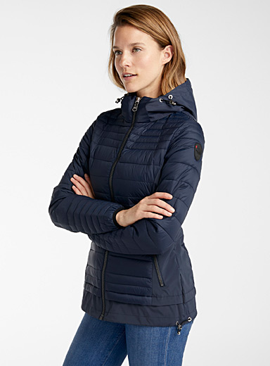 Pajar Canada Marine Blue Makani fitted puffer jacket for women
