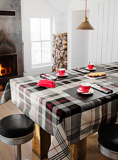 Urban plaid tablecloth
