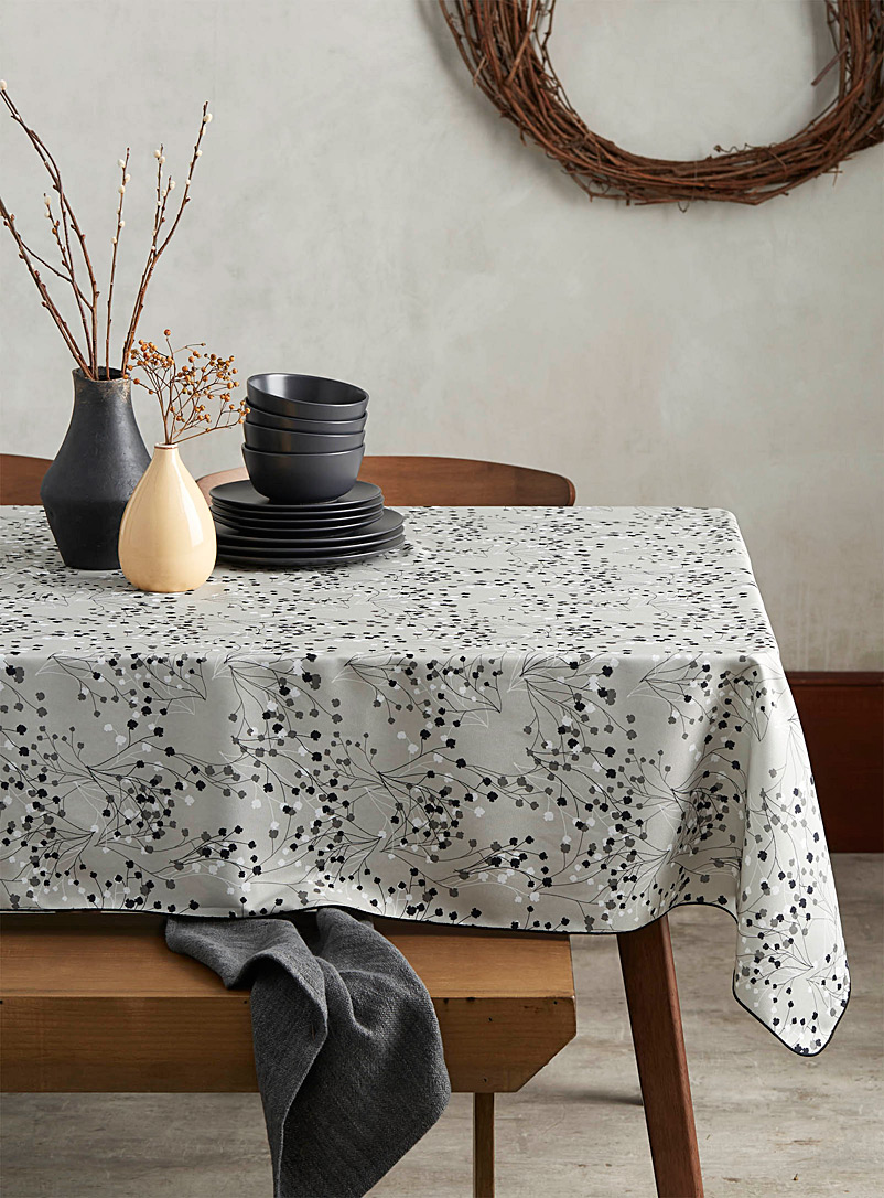 Simons Maison Patterned Grey Baby's-breath tablecloth