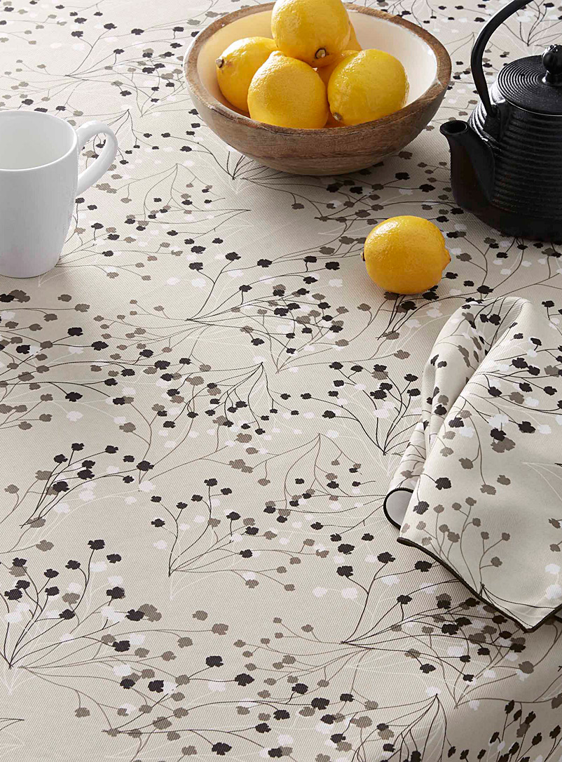 Baby's-breath tablecloth - Printed - Patterned Grey