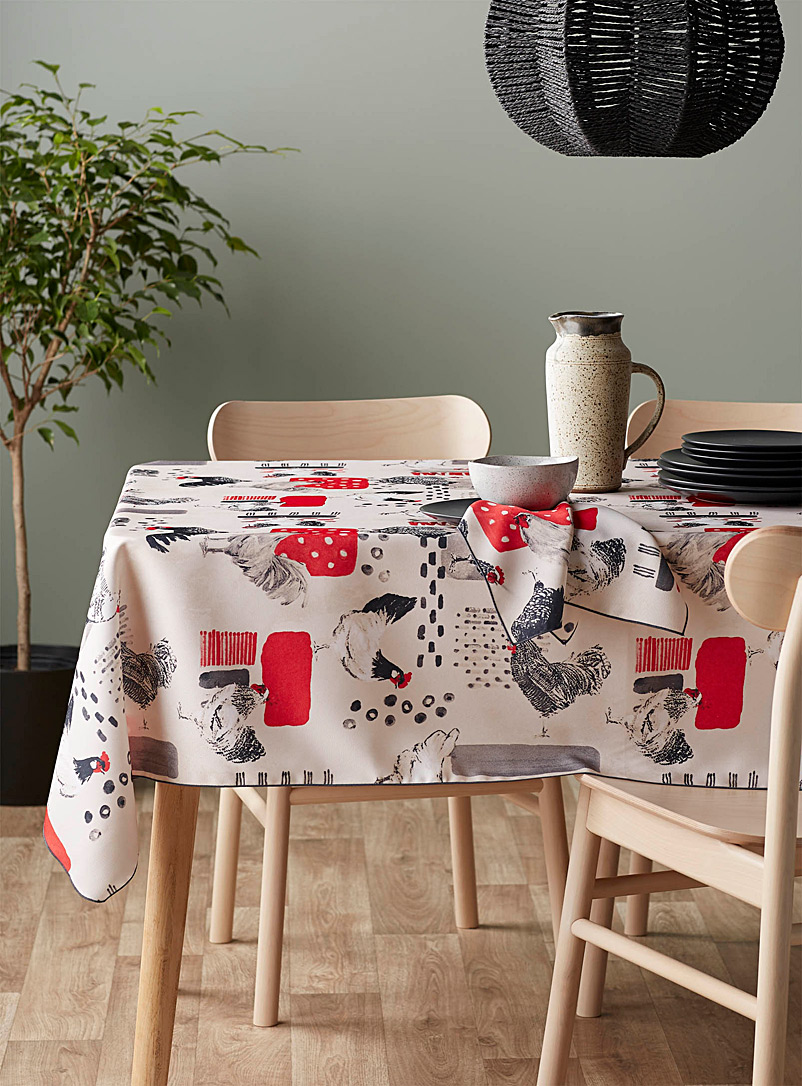 Simons Maison Assorted Barnyard tablecloth