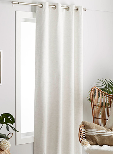 "Earthy-coloured total darkness curtain  52""e; x 95""e;"