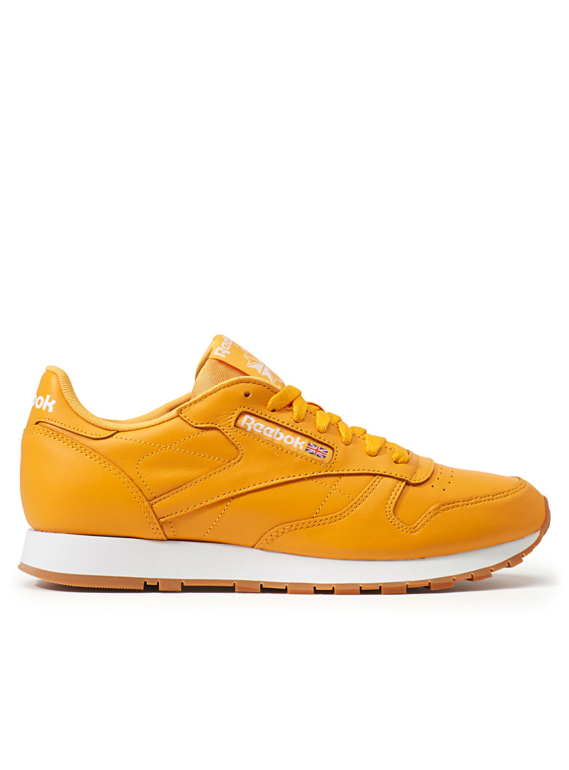 Yellow Classic Leather sneakers  Men - Sneakers - Golden Yellow