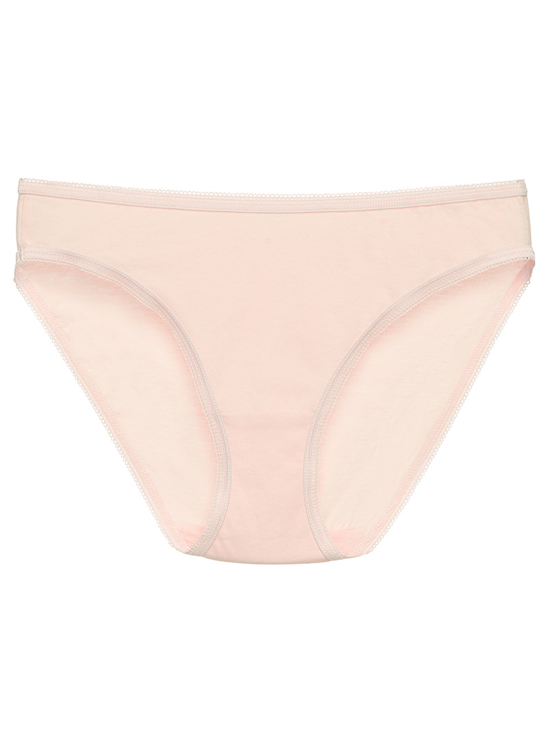 Miiyu Pink Crochet-trim bikini panty for women