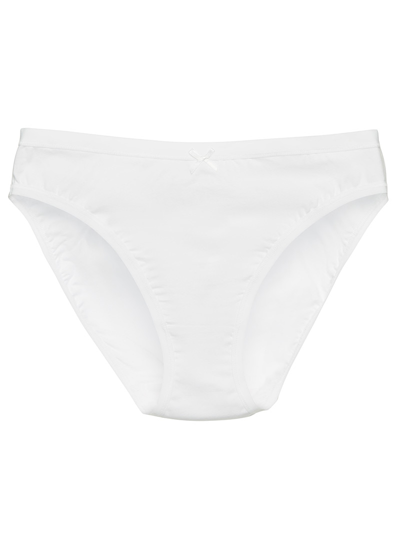 Bow high-rise bikini panty