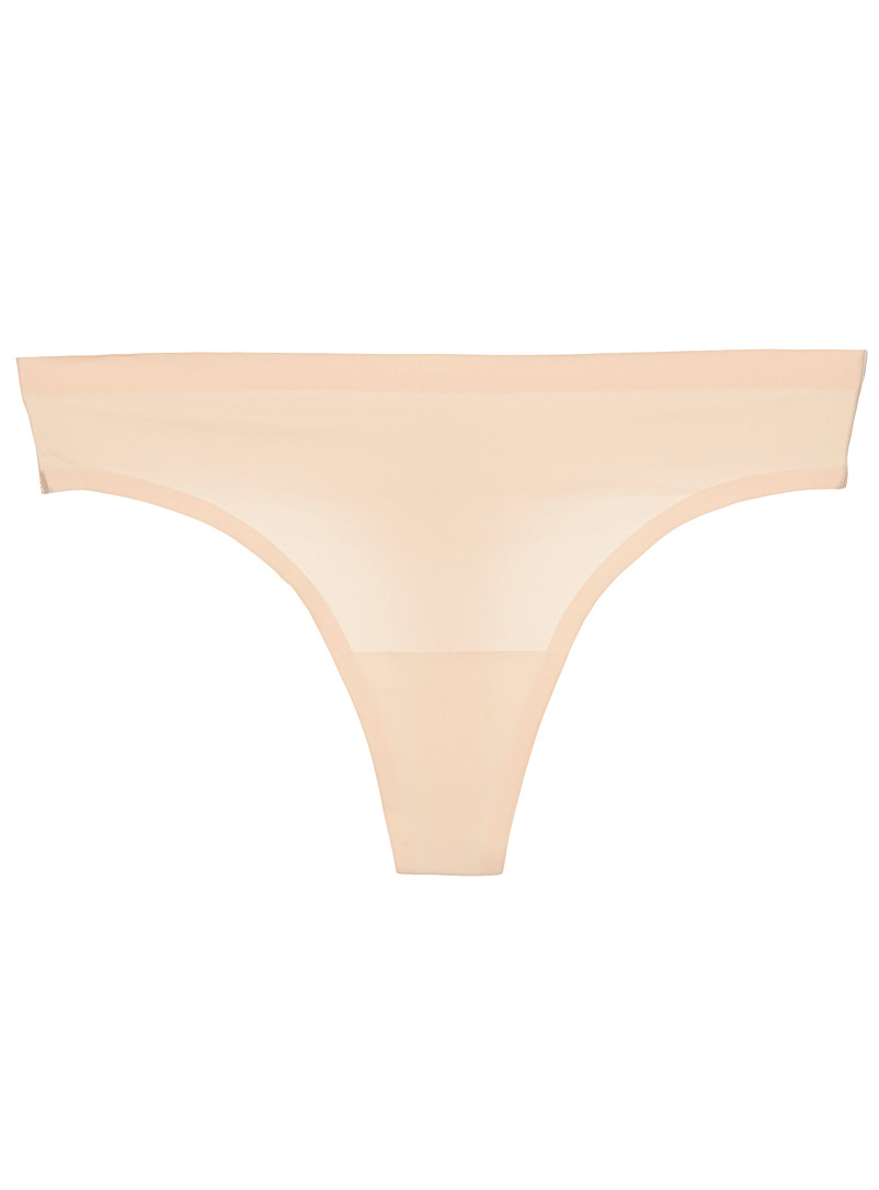 Invisible thong - Thongs - Tan