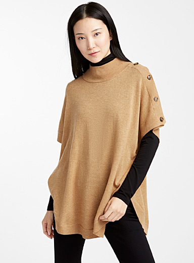Le pull poncho col montant