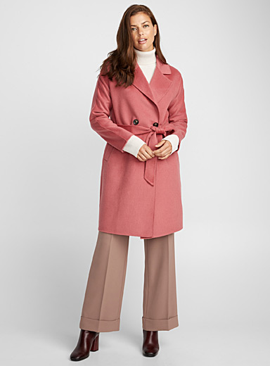 Colourful belted coat