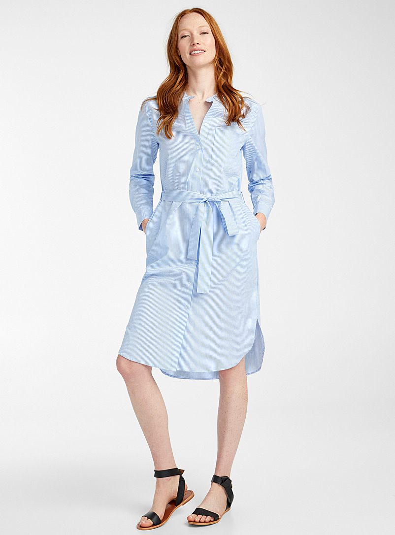 Part Two Patterned Blue Lulu striped shirtdress for women