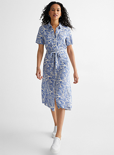 Ivalin sky garden shirtdress