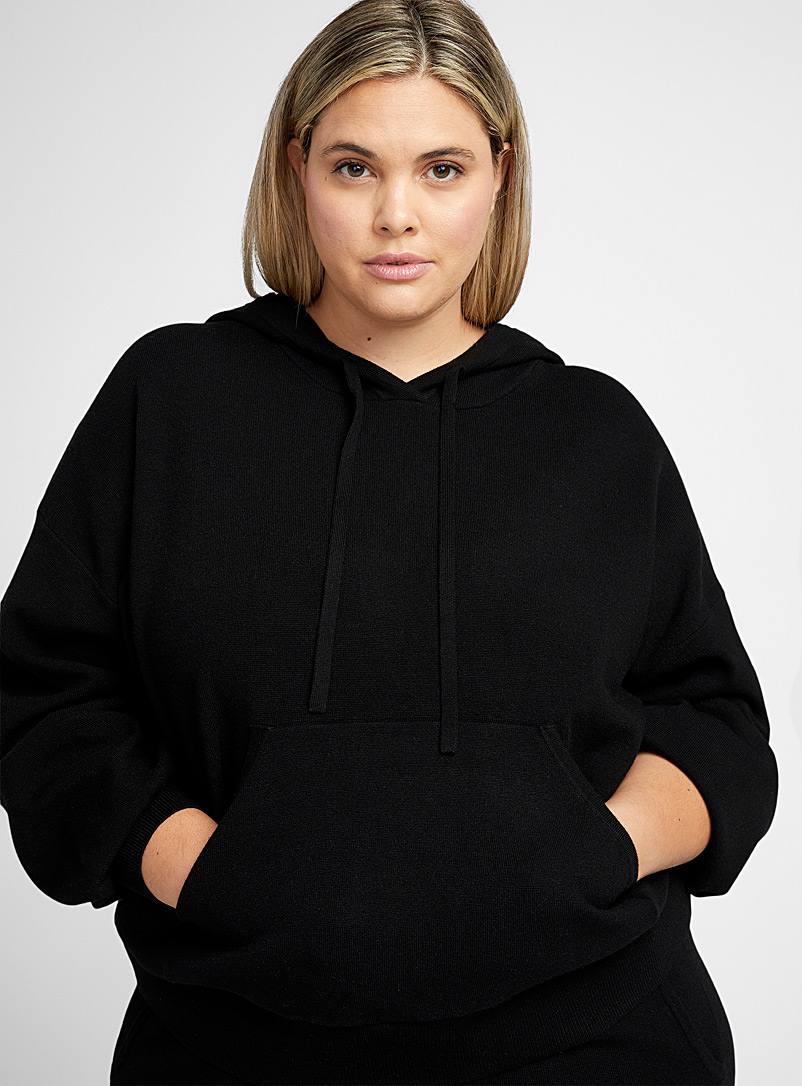 Part Two Black Karhlin hooded sweater Plus size for women