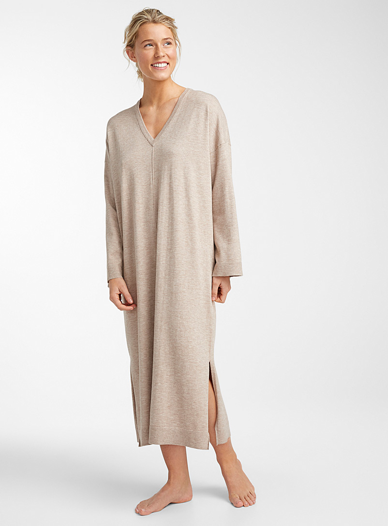 Viveca long nightgown - Nighties & Sleepshirts - Fawn