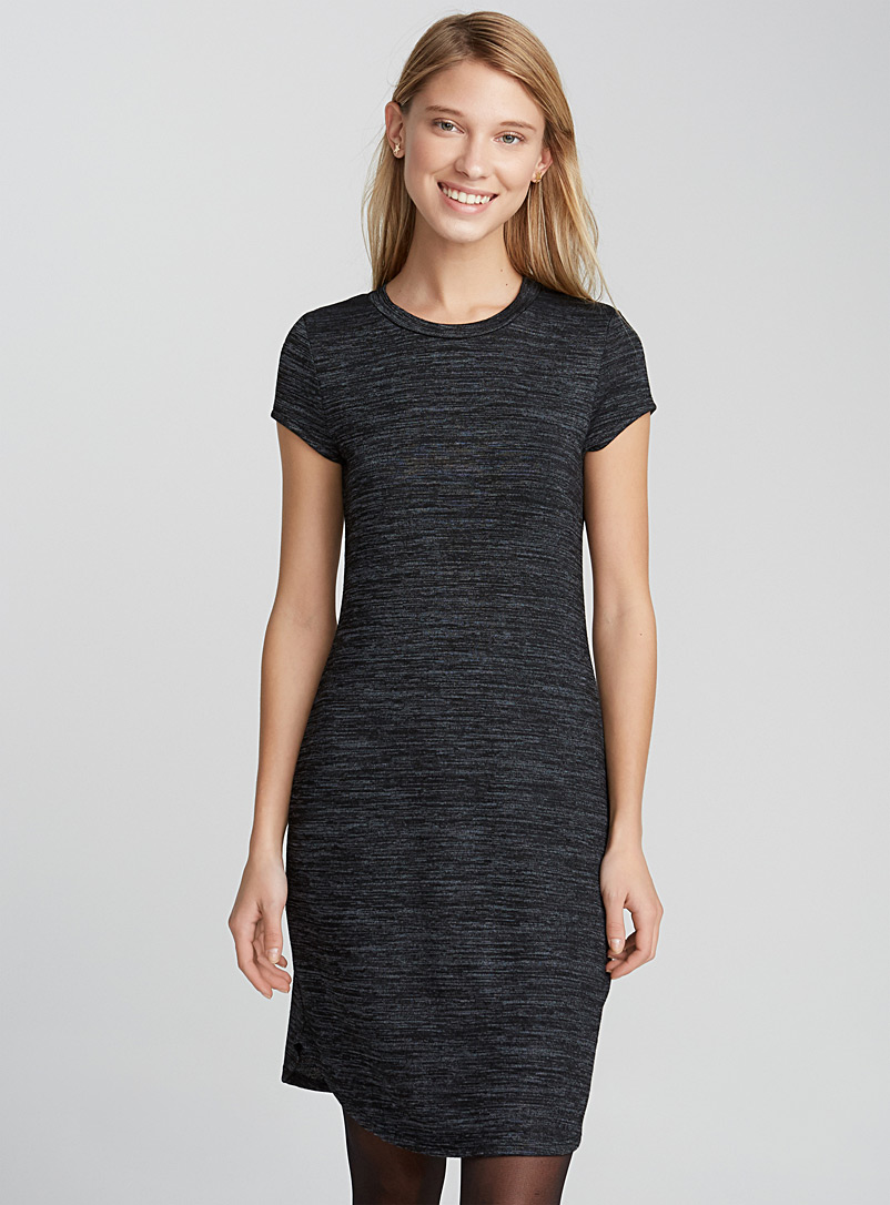 Twik Black Casual T-shirt dress for women