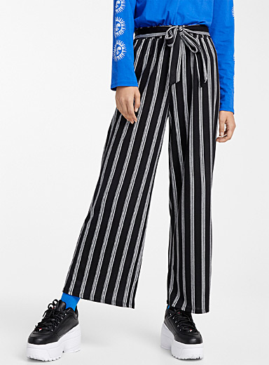 Soft striped knit pant