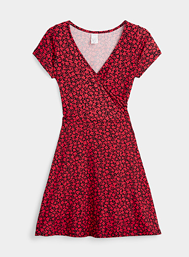 Twik Assorted Brushed crossover dress for women
