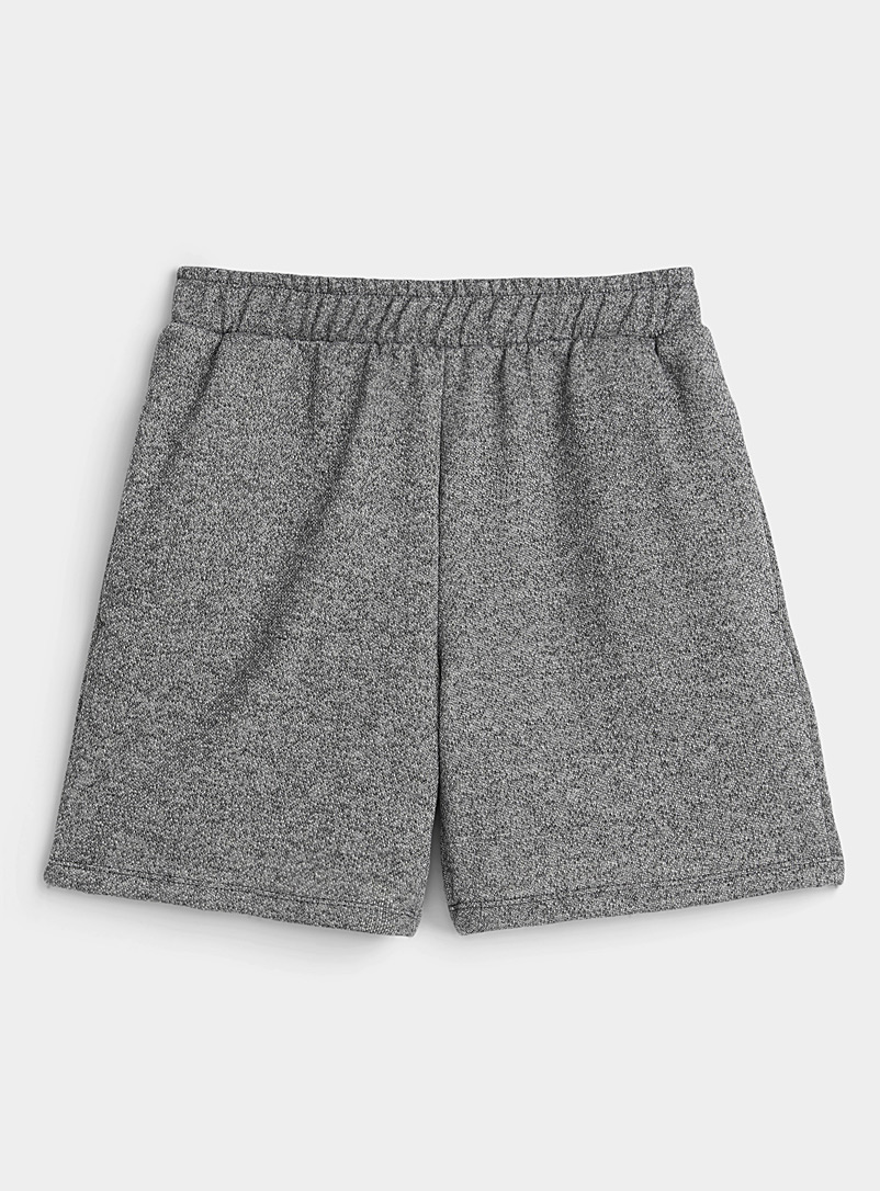 Miiyu Charcoal Loose cotton fleece-lined boxer brief for women