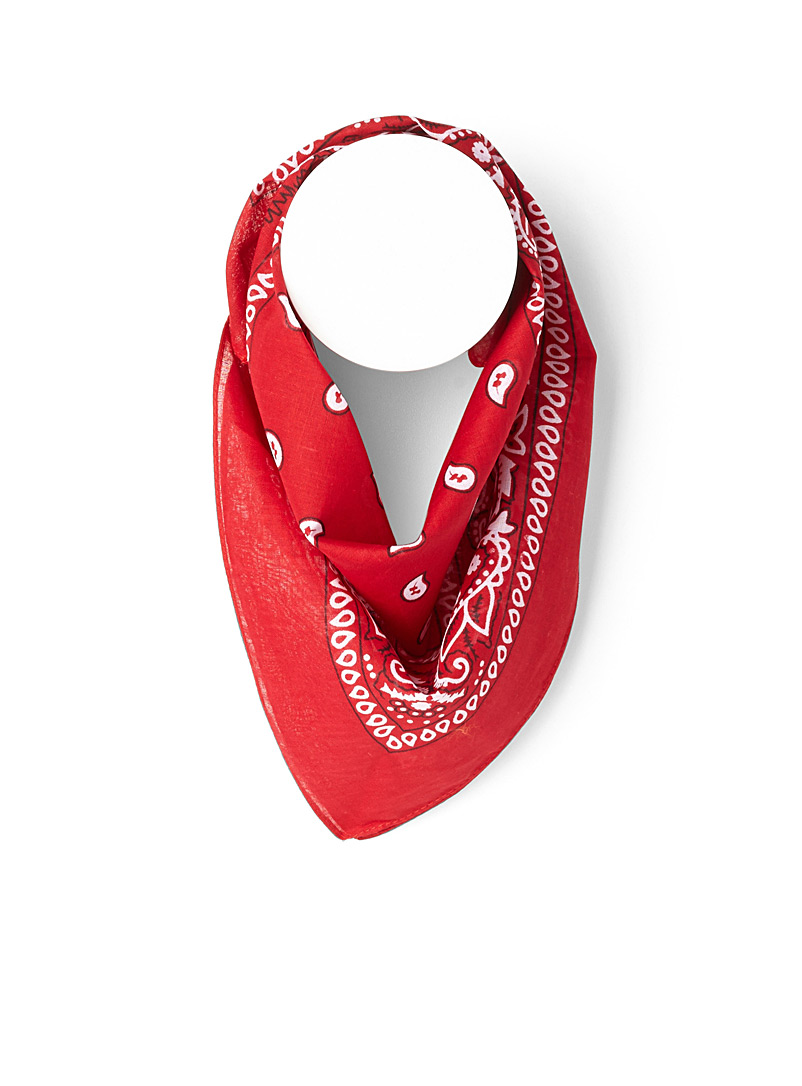 Simons Red Paisley bandana for women